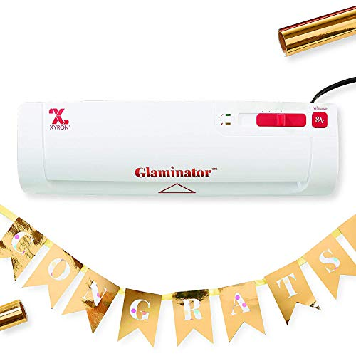 Xyron Glaminator Foil Laminator, 9' Lamination Machine, Includes Gold Foil (628120)