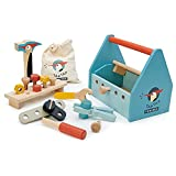 Tender Leaf Toys Tap Tap Tool Box - Juguete de construcción con accesorios para niños