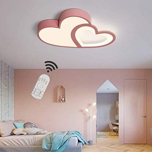 SLZ LED Deckenleuchte Kinderzimmer Lampe Dimmbar Mit Fernbedienung Deckenlampe Kreative Warm Romantisch Designer Kronleuchter Herzform Acryl...