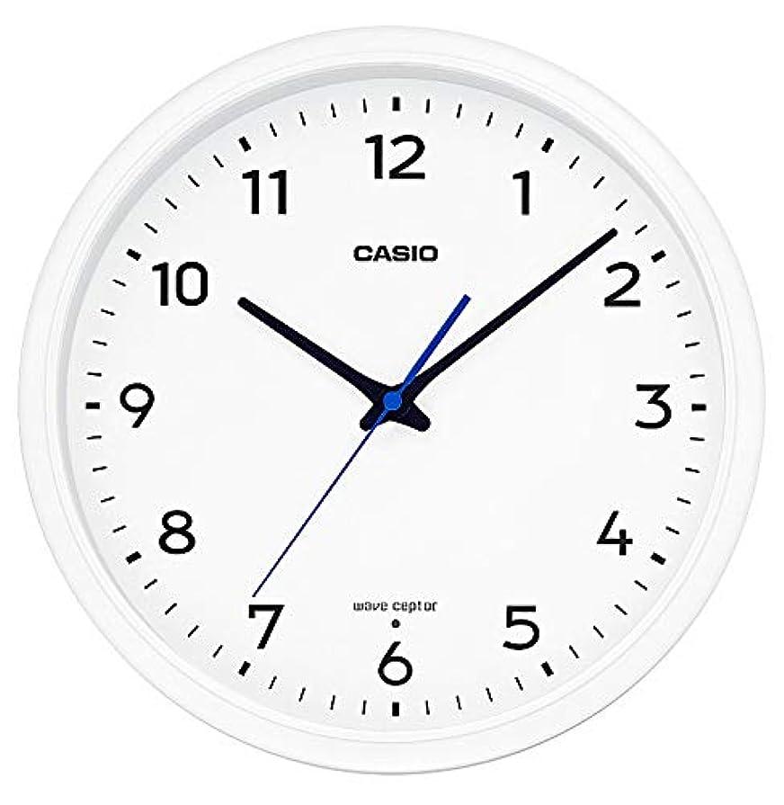 羊のリード手綱CASIO(カシオ) 掛け時計 ホワイト 直径31.1㎝ 電波時計 IQ-1013J-7JF