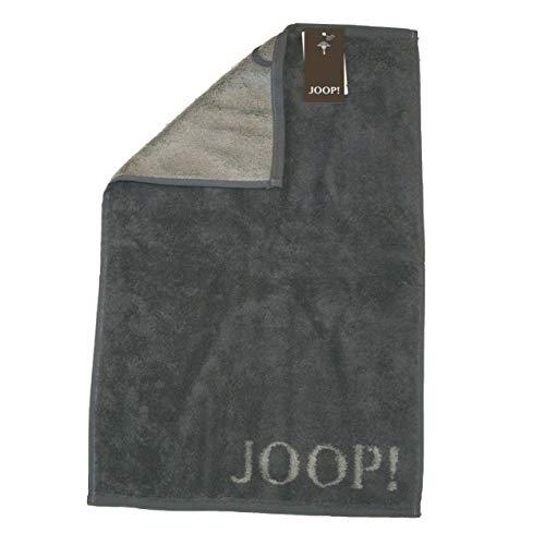 JOOP! 1600 Classic Doubleface Gästetuch (30 * 50 cm, anthrazit ) 3 er Set