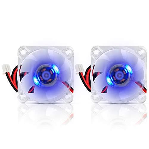 40mm Fan 24V Hydraulic Bearing DC Brushless Cooling Fan 4010 40x40x10mm 0.05A Blue LED XH2.54 for 3D Printer, PC, Case, CPU (2pcs)