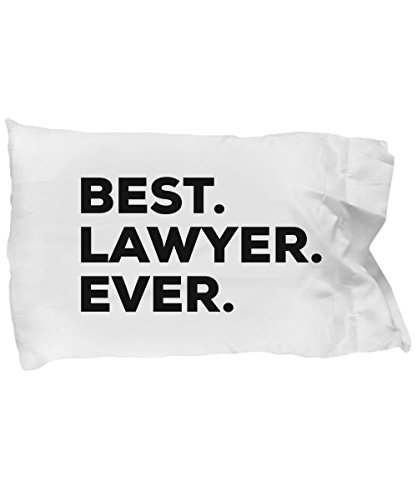 SpreadPassion Lawyer Pillow Case - Best Lawyer Ever - Lawyer Gifts for Men Women Future Lawyers - Layered - Retired Going Away Promotion Birthday Christmas