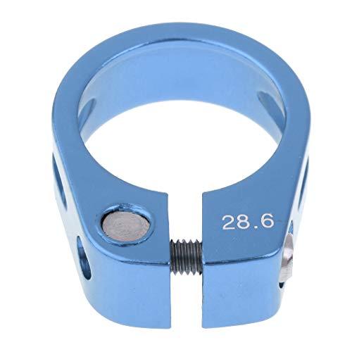 SM SunniMix Alloy SeatPost Clamp Tubo De Tornillo Fijo Clip De Asiento De Bicicleta - Azul 28.6MM