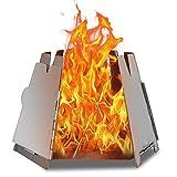 LIXADA バーベキューコンロ 焚火台 折りたたみ 薪 ウッドストーブ 組立簡単 ステンレス鋼 コンパクト 軽量 アウトドア レジャー キャンプなど適用