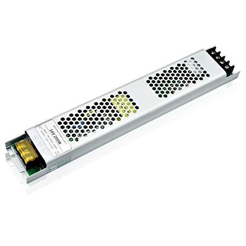 Luxvista 200W 24V LED Módulo de Fuente de Alimentación, Super Fino Transformador Convertidor LED Iluminación, Conducción Interruptor Adaptador de Corriente para Hogar, Bombillas LED Luz de Tira