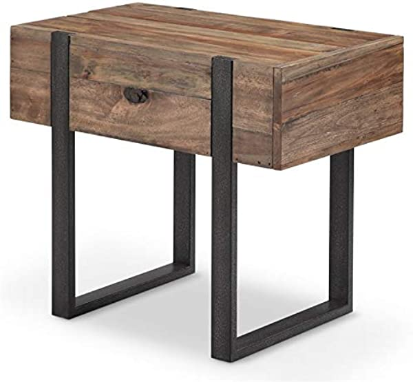 Magnussen Prescott Modern Chairside End Table In Rustic Honey