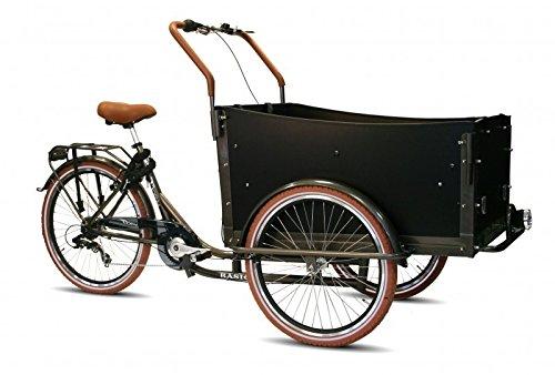 Bakfiets Lastenrad Transportrad Lastenfahrrad 7G Shimano 5 Sitz Reha Bike Dreirad , Farbe:Braun