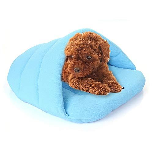 Mjhmhg Pantoffelform Polar Fleece Warm Verdicken Haustier Hunde Katzen Haus Größe: XS, 28 × 38 × 20cm (Kaffee) (Farbe : Sky Blue)