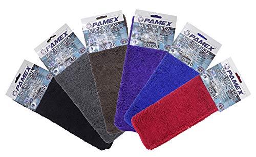 PAMEX Paño de Microfibra Volumen Colores Surtidos 30x40cm 12 Unidades