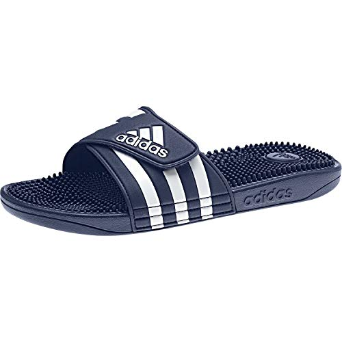 Adidas Adissage Zapatos de playa y piscina Unisex adulto, Azul (Azul 000), 46 EU (11 UK)
