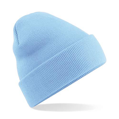 Beechfield Bonnet à Revers Unisexe B045 Taille Unique Bleu Ciel