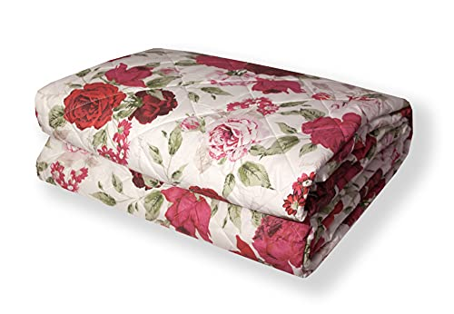 Laura Biagiotti, gesteppte Tagesdecke für Doppelbett, aus reiner Baumwolle (Ashley Rot)