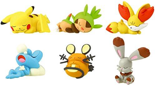 Pokemon XY Oyasumi Friends Figure-Goodnight Friends~Complete set of 6