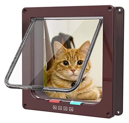 ASY Puerta Grande para Gatos con Cierre Magnético De 4 Vías con Cerradura Magnética para Gatos Y Perros Puertas para Gatos para Interiores Y Exteriores para Gatos Deslizantes Y Perros Grandes