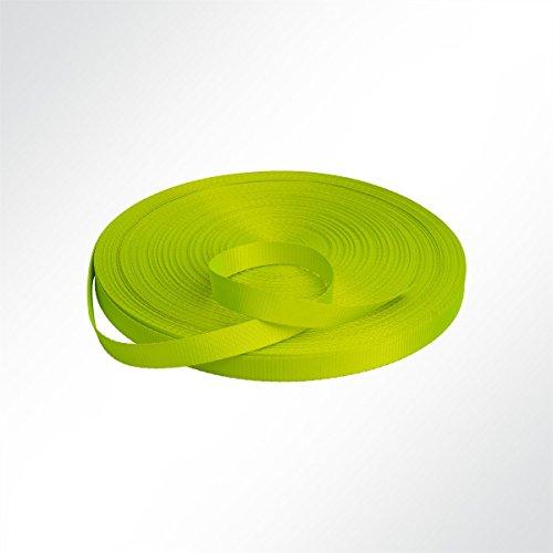 LYSEL Neon Gurtband Polyester (PES) 25mm breit, 1mm stark, 1200 Kg, (L) 20m
