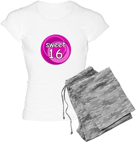 CafePress Pink Sweet 16 Women s Light Pajamas Womens Novelty Cotton Pajama Set Comfortable PJ product image