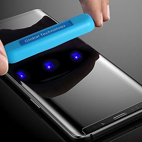 cofi1453 Panzer Schutzglas kompatibel mit Samsung Galaxy S8 (G950F) mit Kleber & UV 3D Curved Panzerglasfolie Display Schutzfolie Volle Abdeckung