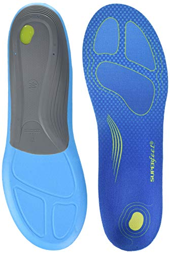 Superfeet RUN Comfort Insoles, Carbon Fiber Running Shoe Orthotic Slim Inserts for Support and Cushion
