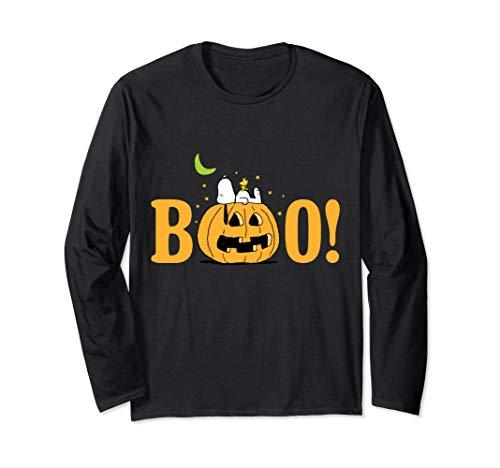 Peanuts Halloween Boo Kürbis Langarmshirt