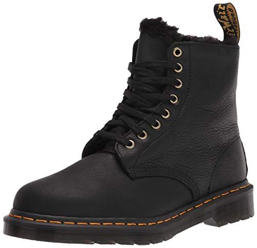 Dr. Martens unisex adult 1460 Pascal Fashion Boot, Fl Black Ambassador, 9 Women 8 Men US