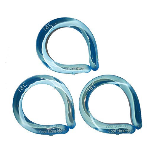 Neck Cooling Tube (Blue,3)   Wearable Cooling Neck Wraps for Summer Heat I Cold Gel Ice Pack   Reusable Neck Cooler Commute and Outdoor Activities   Relief for Hot Flashes or Fever (Blue)