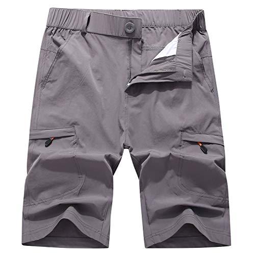 Ynport Crefreak Atmungsaktive MTB Shorts Mountainbike Fahrradhose Leichte Baggy Shorts Herren Outdoor Shorts (XXL (Taille 86,4 - 91,4 cm), Grau 2491)