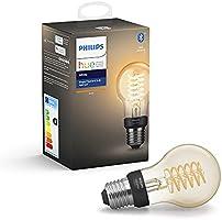 Philips Hue Filament White Ambiance Inteligentna żarówka LED E27 7W A60, retro żarówka Edisona, ciepłe białe światło,...