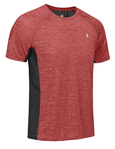 Little Donkey Andy Herren-T-Shirt, schnelltrocknend, UV-Schutz, kurzärmlig, Herren, rot, Medium