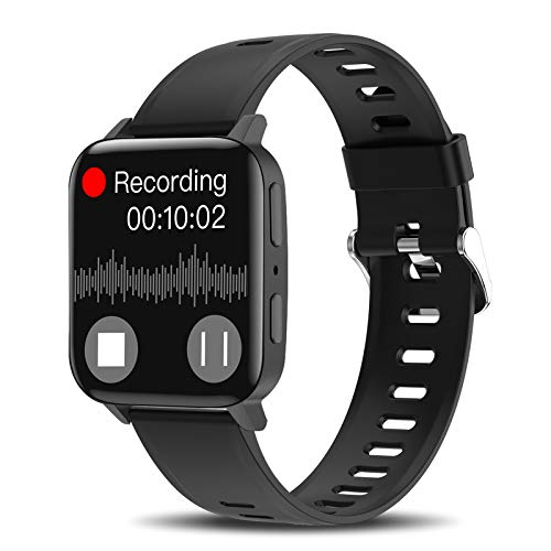 """Smartwatch,Yocuby 1.54\"""" Voice Recorder Watch Fitness Tracker with Heart Rate/Sleep Monitor,Smartwatch Activity Tracker with Step Counter for Women Men Recorder for Lectures,Meetings,Class,Interviews"""