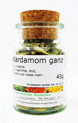 Kardamom Cardamom ganz 45g im Glas Gewürzkontor München