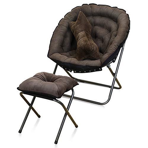 WSDSX Silla Plegable para Acampar Sofá/sillas de Ocio Colorido Simple/Oficina Sala de Estar Mini Siesta Silla Plegable/Jardín al Aire Libre Balcón Reclinable Reposapiés Silla Traje (7 Color