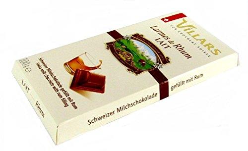 schweizer Villars Schokolade Milchschokolade gefüllt mit Rum 100 g