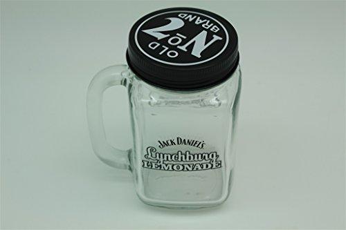 2x Jack Daniels Lynchburg Lemonade Glas Origianl mit Deckel und Rezept