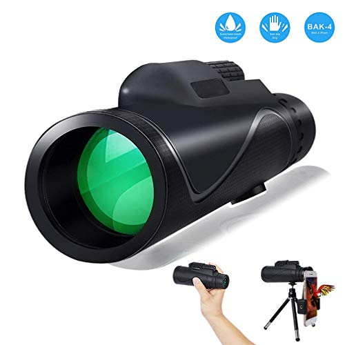 ARIILY Telescopios monoculares 40X60 High Power Prism Monocular HD Dual Focus Scope, Quick Smartphone Holder & Tripod, Waterproof Scope