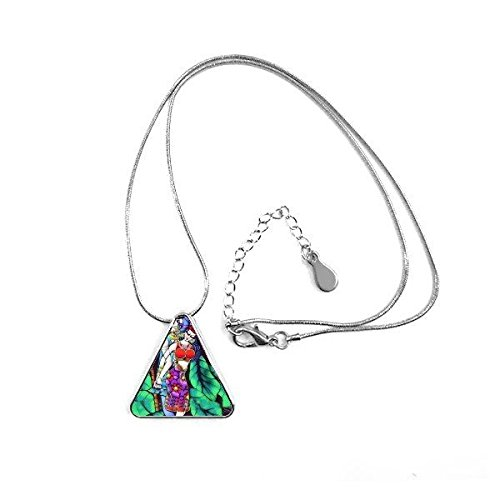 Sexy Hombre y Mujer Bikini Romance Luna árbol Pintura triángulo Forma Collar joyería con Cadena decoración Regalo