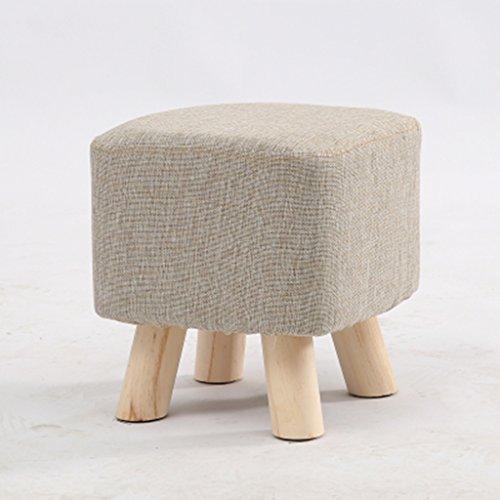 Salon tabouret de canapé bois massif tabouret de la famille petit tabouret 27 * 27 * 28cm (Color : Beige)