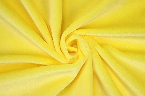 kullaloo Microfaser-Plüsch Stoff Shorty als Meterware in vielen Farben - 1,5mm Florlänge, EN71-3 & EN 71-9 Zertifiziert (gelb)