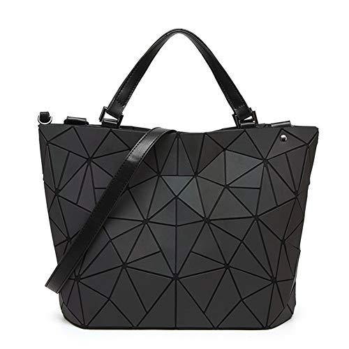 Weibliche tasche Umhängetasche Handtasche Rautengeometrie-Paket Unregelmäßig Leuchtend Eimer Tasche Mode Große Kapazität Falttasche