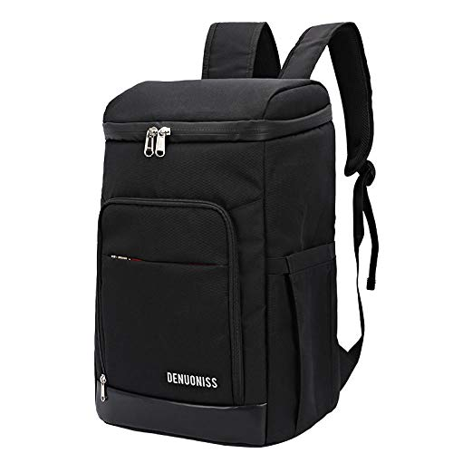 ASADVE Insulated Bag Insulated Lunch Bag Cooler Bag Insulation Backpack Outdoor Picnic Backpack Size Beer Bag 24-28L Waterproof Peva Ice Bag-Increase Black