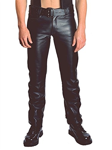 Leather jeans Mister B Jeans Zip (34)