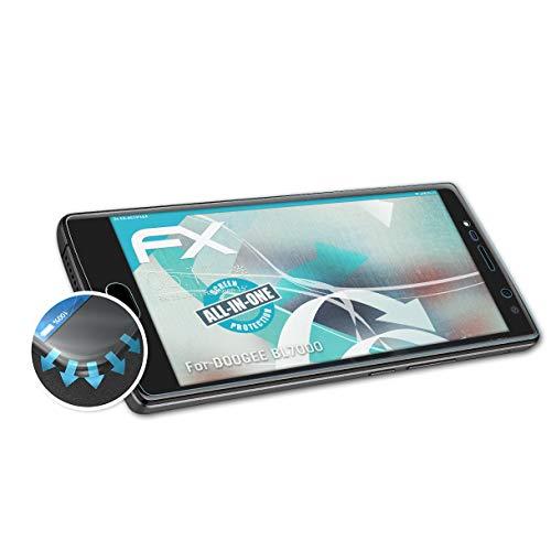 atFolix Schutzfolie kompatibel mit DOOGEE BL7000 Folie, ultraklare & Flexible FX Bildschirmschutzfolie (3X)