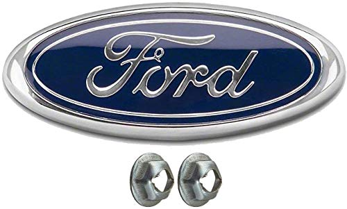 Dark Blue Oval 9' X 3.5' Front Grille Replacement Badge Emblem Medallion Name Plate Compatible with F150 2005-2014 Also Fits 2005-2007 F250 F350 2011-2014 Edge 2011-2016 Explorer 06-11 Ranger