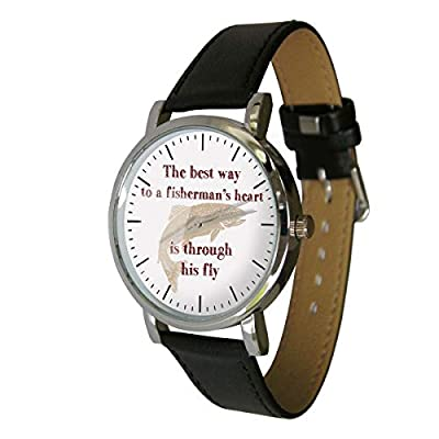 Funny Fly Fishing Design Watch, Great Gift for all Fly Fishermen from YWD