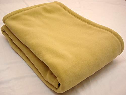 超軽量 ポーラテックフリース毛布(Classic200使用/日本縫製)150×210cm (ベージュ)