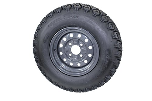 (Qty:1) 25x10.00-12 tire with 4 Hole wheel for Kubota RTV's 900, 1100, 1140 UTV's Assy 6 Ply ATW-045