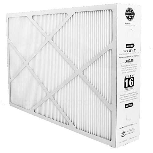 Lennox X8789 16 x 26 x 5 Inch MERV 16 Efficient Air Filter Replacement for PureAir PCO16-28 Air Purifier Cleaner Purification Systems