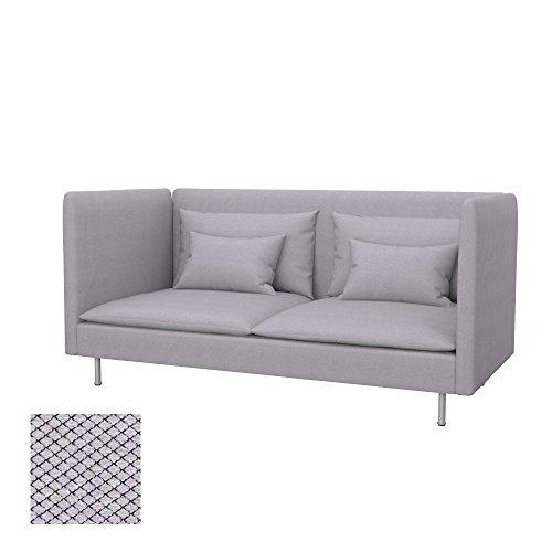 Soferia - IKEA SÖDERHAMN Funda para sofá de 3 plazas, Espalda Alta, Nordic Light Grey