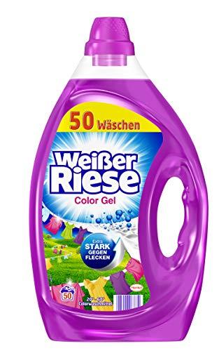 Weißer Riese Color Gel, Flüssigwaschmittel, 200 (4 x 50) Waschladungen, extra stark gegen Flecken