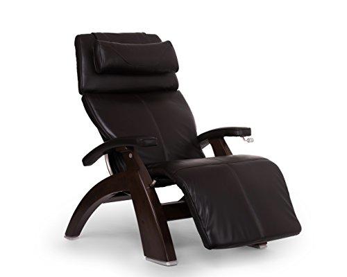 Perfect Chair 'PC-420' Premium Full Grain Leather Hand-Crafted Zero-Gravity Dark Walnut Manual Recliner, Espresso